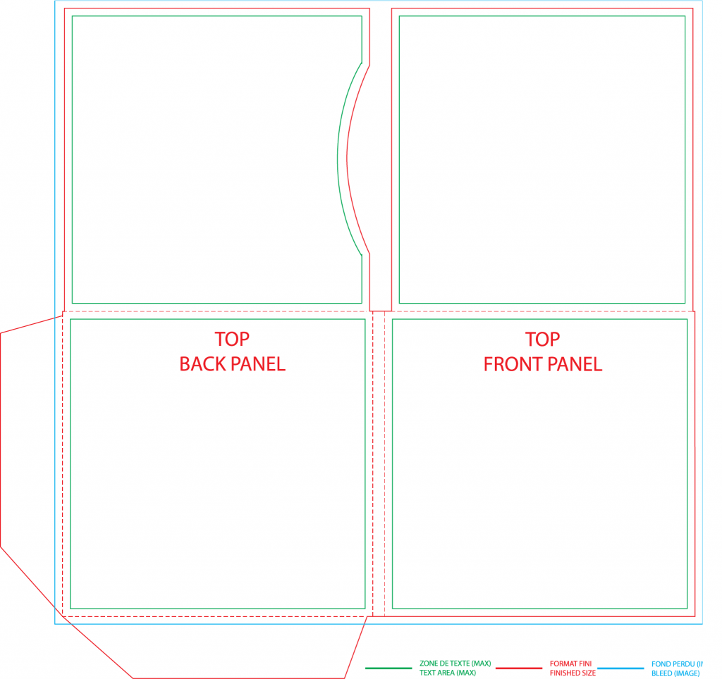 4 panel Wallet Template